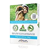 Dog Flea Treatment Collar - Arava Flea and Tick Control Drops Treatment for Dogs (Up to 20 lbs) - Natural, Aromatherapy Medicated. Repels Pests with Natural Oils - Safe on Skin and Coats - Enhanced Defense & Prevention