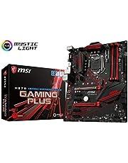 MSI Performance Gaming Intel Coffee Lake LGA 1151 DDR4 VR Ready Onboard Graphics CFX ATX Motherboard (H370 GAMING PLUS)