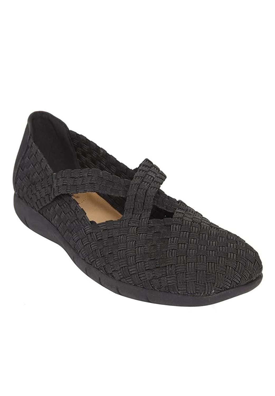 Comfortview Women's Wide Heleena Woven Flat