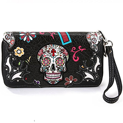 La Dearchuu Western Wristlet Wallet and Western Wristlet For Women (black1) by La Dearchuu
