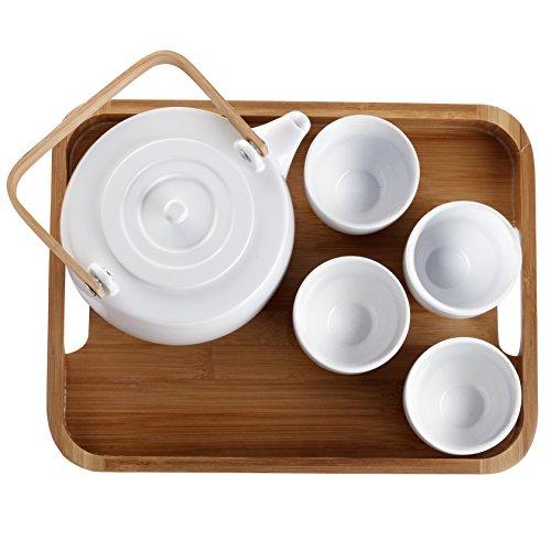 casaWare Serenity 7-Piece Tea Pot Set (White) by casaWare (Image #6)