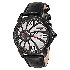 Starking Men's Silver Dial Leather Band Watch - BM0846RL21