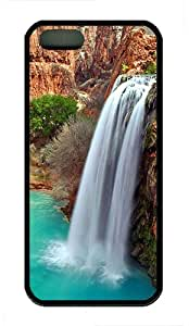 iPhone 5S Case,Grand Canyon Waterfall TPU Custom iPhone 5/5S Case Cover Black