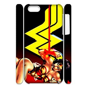 3D Print US Comic Superhero&wonder woman Theme Case Cover for iPhone 5C- Personalized Hard Cell Phone Back Protective Case Shell-Perfect as gift