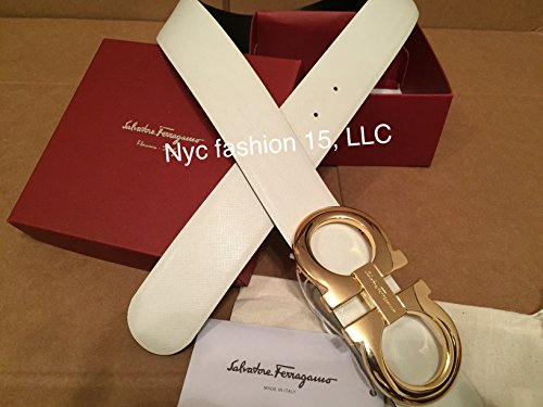 Authentic Salvatore Ferragamo Reversible White