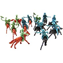 12 Pieces Horses with Western Cowboys Indian Riders