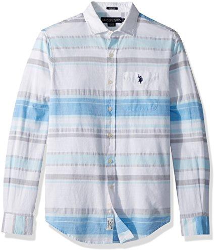 U.S. Polo Assn. Mens Long Sleeve Slim Fit Striped Shirt