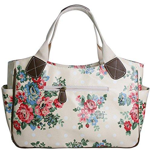 tracolla Borsa fiori viaggio a Rosa da cane Borsa doona Borsa Gufo farfalla Borsa Miss Lulu a Tela cerata gatto a fiore pois Matte 6xI1nq7a