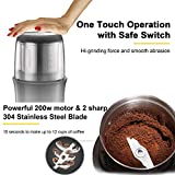 Electric Coffee Grinder Portable Coffee Blade
