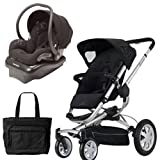 Quinny BUZZ4TRVSTM Buzz 4 Travel System in Black with a Diaper Bag