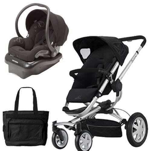 Quinny BUZZ4TRVSTM Buzz 4 Travel System in Black with a Diaper (Quinny Travel Bag)
