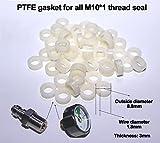Outdoor Guy High Pressure Seal Tetrafluoroethane PTFE Gasket oring Sealing for Gauge and Coupler Socket 10PCS