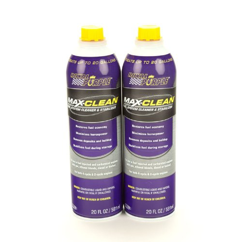 Royal Purple 11722-2PK Max-Clean Fuel System Cleaner and Stabilizer - 20 oz. Bottle, (Pack of 2) by Royal Purple