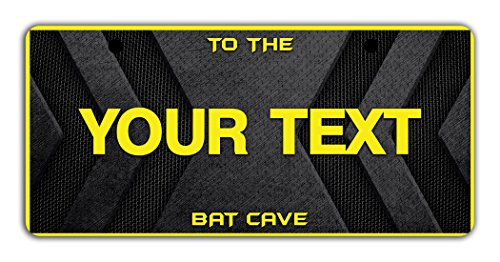 BleuReign(TM) Personalized Custom Name Superhero Series: To The Bat Cave License Plate Bicycle Bike Moped Golf Cart 3