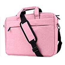 HAOCOO Laptop Bag 15.6inch,Waterproof Messenger Shoulder Bag Case,Hand Bag Multi-compartment Briefcase for 15.6inch HP Laptop / Macbook Pro / Air / Computer / Asus / Notebook / Lenovo / Ultrabook (15.6 inch, Pink)