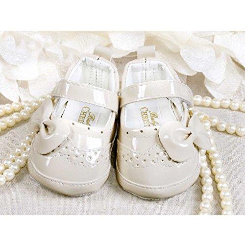 Festliche Babyschuhe Ballerinas beige Lack Taufschuhe Gr. 17 Modell 4693