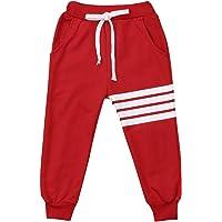 Bebé Niños Niñas Algodón Cintura Elástica Pantalones Deportivos Tiras Blancas Impresión Unisex Bebé Casual Active…