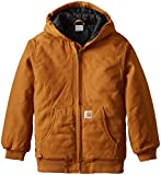 Carhartt Big Boys' Work Active Jacket, Carhartt Brown, Medium/10/12