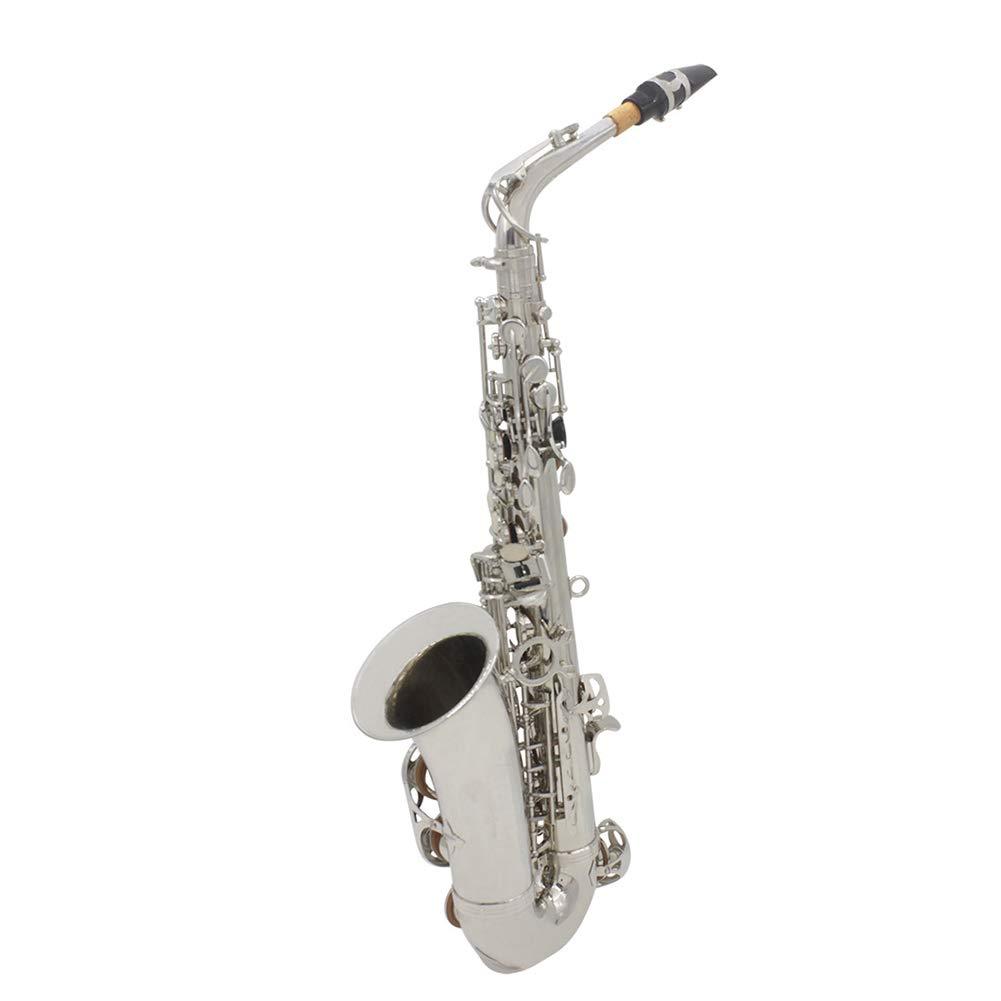 NUYI-1 Véritable Sax Alto Argent de Haute qualité Drop E-Sax Professional Play Sax