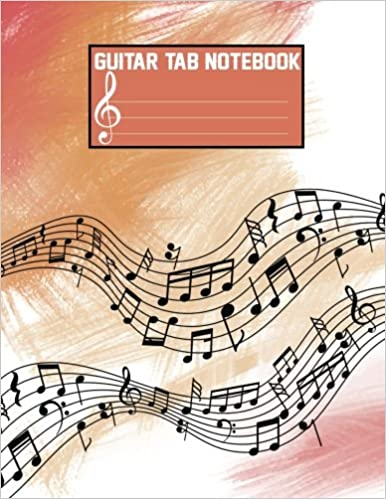 Guitar Tab Notebook Large Print Blank Sheet Music For Guitar With