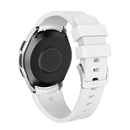 NotoCity 22mm Watch Band Compatible Samsung Galaxy Watch 46mm Soft Silicon Watch Bands for Samsung Gear S3 Smartwatch for Man Women(White, Small)