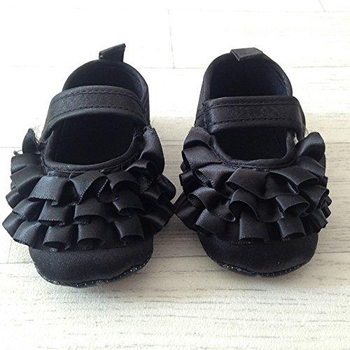 Bailarina suave bebé 3de 15meses, Modelo FrouFrou negro 3/6Meses, 6/9Meses, 9/15meses negro negro Talla:9/15 mois