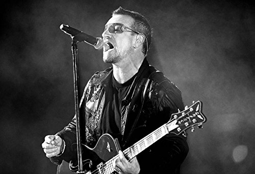 """Bono Poster 13x19"""" U2 Black And White for sale  Delivered anywhere in Canada"""