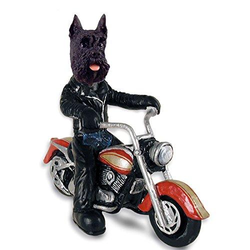 Schnauzer Black Motorcycle Doogie Collectable Figurine