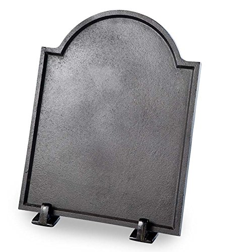 Plow & Hearth 39925 Large Cast Iron Plain Fireplace Fireback, Black