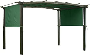 Durable 17x6.5 Ft Pergola Outdoor Canopy Patio Replacement Shade Cover Green 200g/sqm Polyester UV30+ 2-layer for Relaxation Picnic Garden Protection UV Sun