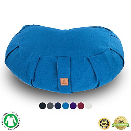 Seat-Of-Your-Soul-Buckwheat-Hull-Filled-Yoga-Meditation-Cushion-Certified-Organic-Cotton-Removable-Washable-Cover-Carrying-Handle-Choose-Your-Style-and-Color-of-Pillow