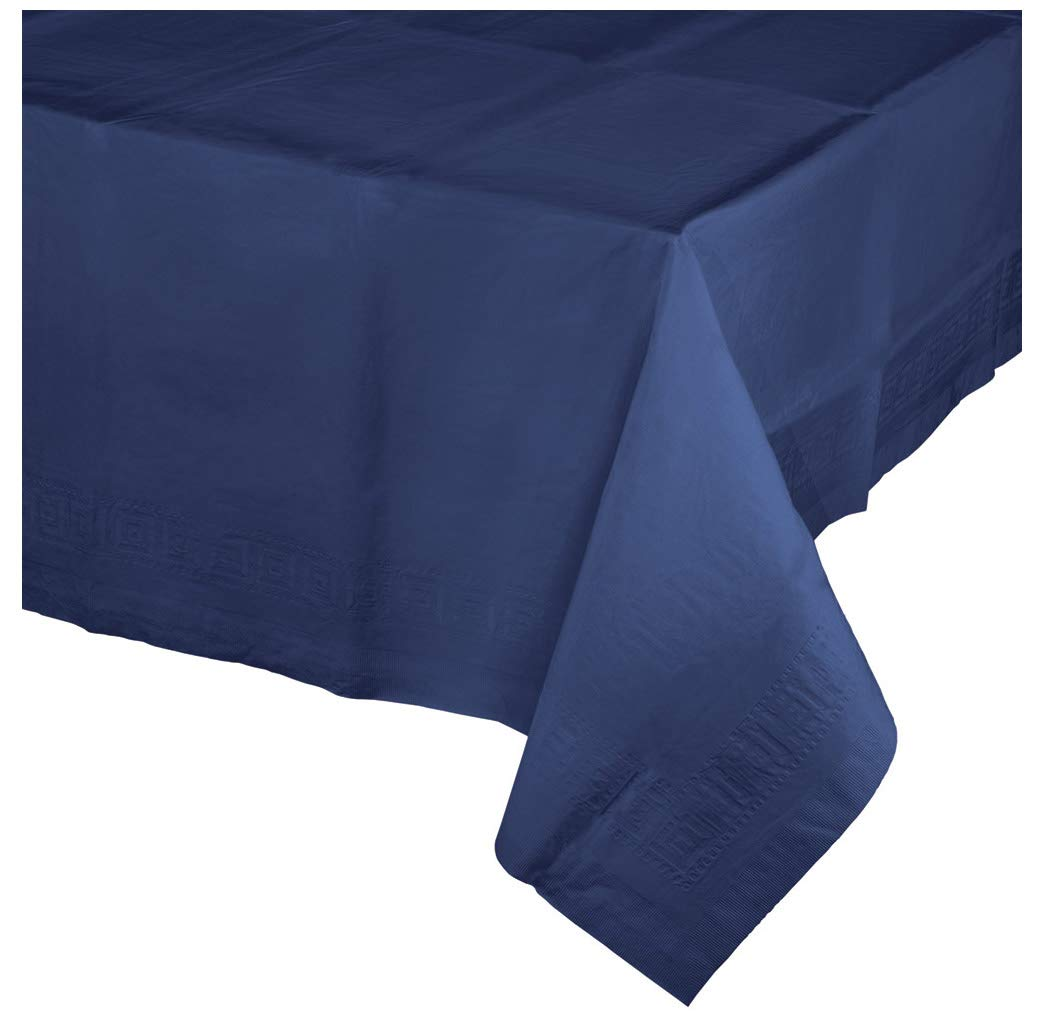 Navy Blue Paper Tablecloths, 3 ct by Creative Converting