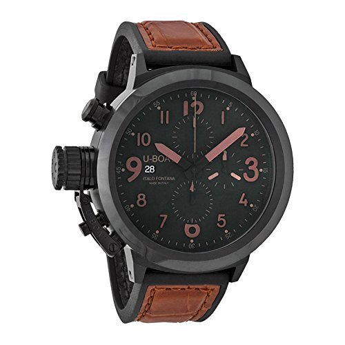 U-Boat Men's 7094 Flightdeck Analog Display Swiss Automatic Brown - Watches Uboat