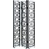 Elegant Lighting 3-Panel Room Divider in Silver