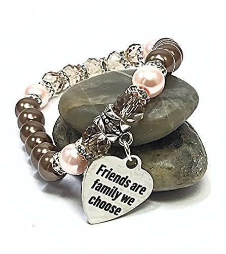 Amazon.com: Friendship Bracelet Pink & Brown Jewelry ...
