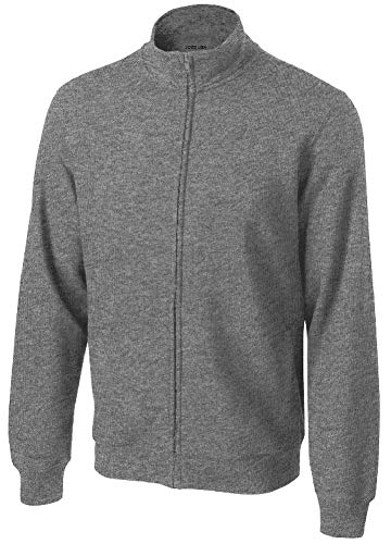 Joe's USA - Mens Athletic Full-Zip Sweatshirt in Adult Sizes: M