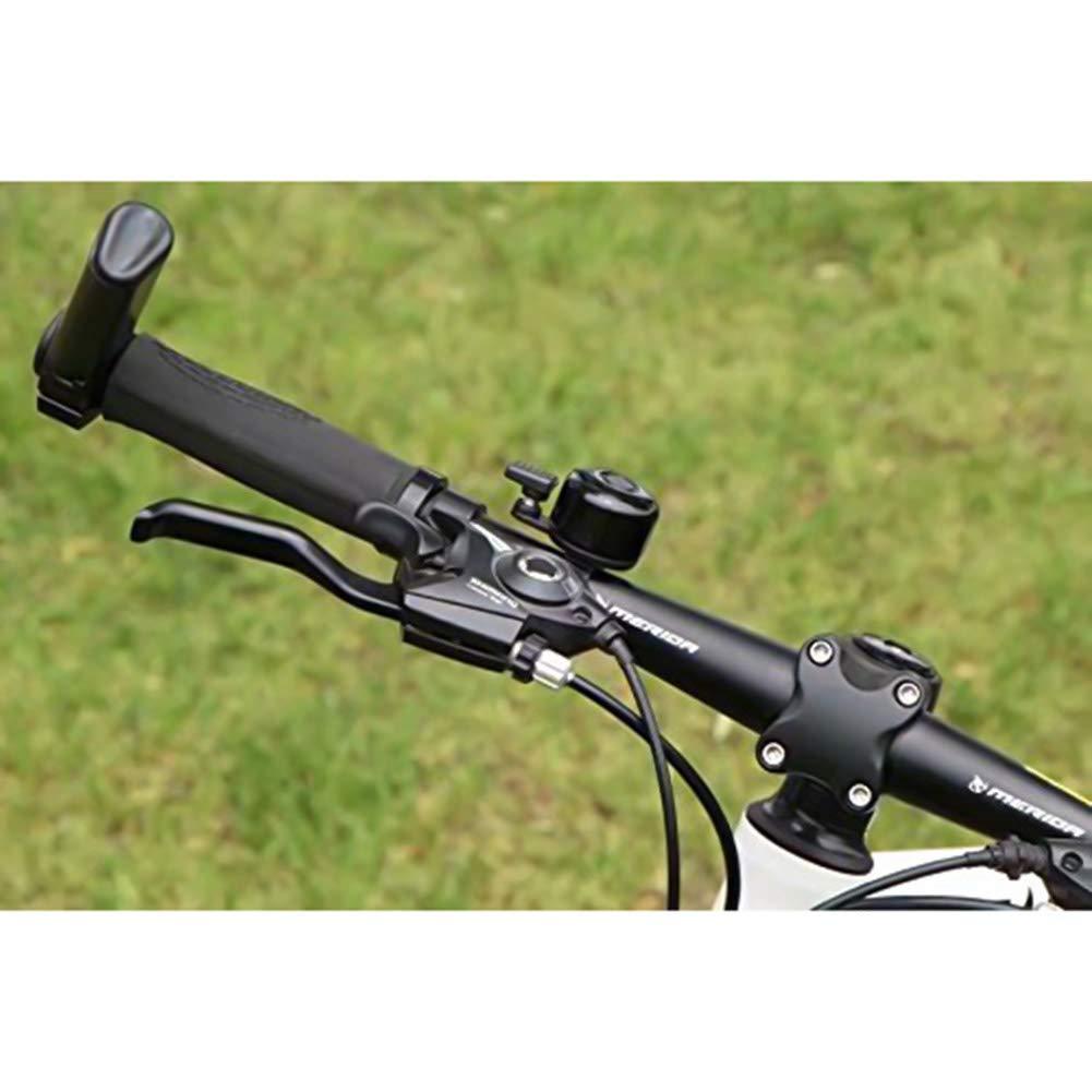 Noir wuudi en Aluminium de v/élo Mini Bell Loud Son Clair Pouce Bell Sonnette de Guidon VTT ext/érieur d/équitation de Cyclisme Mini Alarme davertissement Bague
