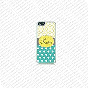 Krezy Case Polka Dots Monogram iPhone 6 Plus Case, Monogram iPhone 6 Plus Cover, Custom iPhone 6 5.5 inch Cases, Cute monogram iPhone 6 Plus Case by runtopwell