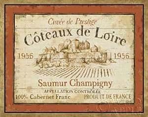 Fine Art Print–francés vino etiqueta II por Wild Apple, 28 x 22