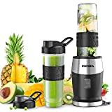 Smoothie Blender,Personal Blender Single Serve Small Blender for Juice shakes and Smoothies,with Two 570ml BPA-Free Portable Blender Bottles, 500W/24,000 RPM Review