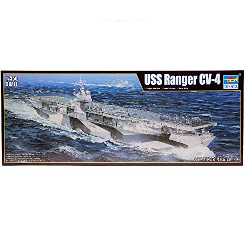Trumpeter 1/350 Scale USS Ranger CV-4 American Navy WWII Aircraft Carrier Plastic Model Kit # 05629