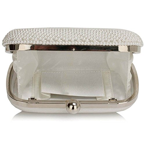 TrendStar - Cartera de mano mujer Blanco - White Clutch Bag