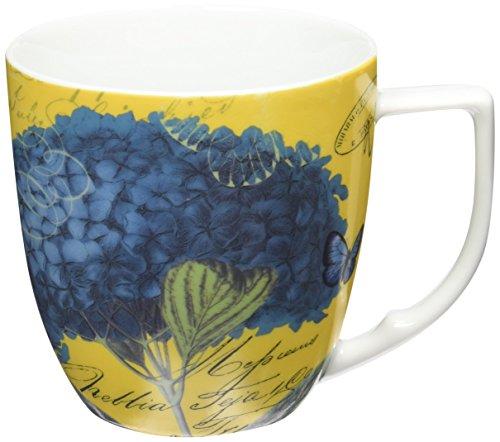Waechtersbach Accents Impressions Mugs, Hydrangea in Blue, Set of 4