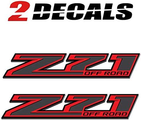 Bedside Set of 2 TiresFX Chevy Silverado Z71 Offroad Z-Black Truck Stickers Decals