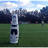 1.75M 69'' Children Adult Inflatable Football Training Dummy Soccer Dummy Goal Keeper Tumbler Air Mannequin Defender Wall