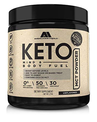 Keto MCT Powder, 30 Servings, Unflavored