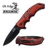 Elk Ridge Personalized Free Engraving - Quality Pocket Knife … (ER-A004BW)