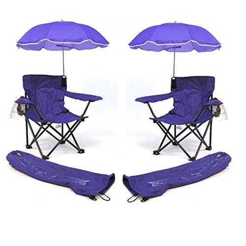 Redmon for Kids Beach Baby Kids Umbrella Camp Chair Combo (2 Purple)