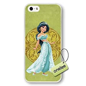 phone covers Disney Cartoon Movie Aladdin & Jasmine Hard Plastic Phone Case & Cover for iPhone 5c - Transparent 1 WANGJING JINDA