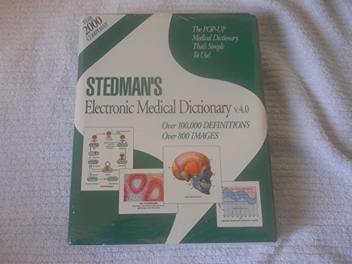 Stedman's Electronic Medical Dictionary V.4.0: The Pop-Up Medical Dictionary That's Simple to Use!
